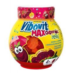 Vibovit MAX Odpornosc zelki // zestaw 12 witamin i mineralow + rutyna // 50 zelkow o smaku czarnego bzu // wiek 4+