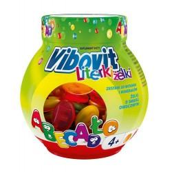 Vibovit Literki zelki // zestaw 10 witamin i mineralow // 50 zelkow o smaku owocowym // wiek 4+