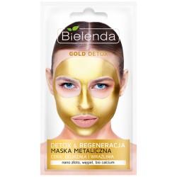 Bielenda Gold Detox // Detox&Regeneracja / MAska metaliczna/ Cera dojrzala i wrazliwa / nano zloto, wegiel, bio calcium