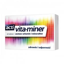 Acti Vita-miner  zestaw witamin i mineralow // zdrowie, odpornosc // 60 tabletek
