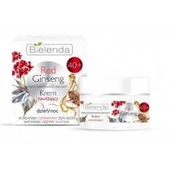 Bielenda Red Ginseng 40+ Nawilzajacy KREM Przeciwzmarszczkowy // czerwony zen-szen, grzyby shitake // dzien-noc // 50ml