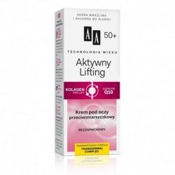 AA TW Aktywny Lifting 50+ // Krem pod oczy przeciwzmarszczkowy // Kolagen pro-lift +Koenzym Q10 // Bezzapachowy