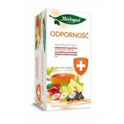 ODPORNOSC - herbatka owocowo-ziolowa o smaku cytrynowym // dzika roza, lipa, czarny bez // 100% skladnikow naturalnych
