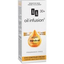 AA Oil infusion 30+ // Krem pod oczy nawlizenie+ redukcja zmarszczek  // argan marula oil, Q10 / Lekka formula, bezzapachowy
