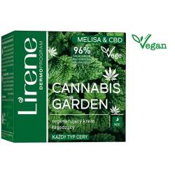 Lirene Vege Cannabis Garden  MELISA & CBD //  Regenerujący krem łagodzący na noc // Kazdy typ cery