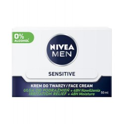 NIVEA MEN Sensitive  // KREM DO TWARZY / FACE CREAM / Ulga od podraznien, 48H Nawilzenia / Irrittation relief, 48H Moisture