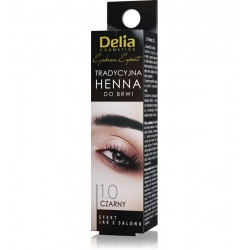 Delia Henna do brwi  tradycyjna  // 1.0 CZARNY // Profesjonalna jakosc