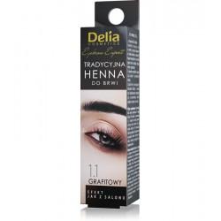 Delia Henna do brwi tradycyjna // 1.1 GRAFITOWY // Profesjonalna jakosc