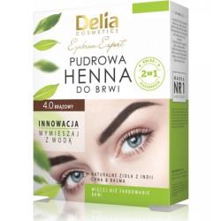 Delia Henna do brwI - pudrowa brazowa z naturalnymi ziołami - chną i basmą // wystarczy wymieszać z wodą! // 4g