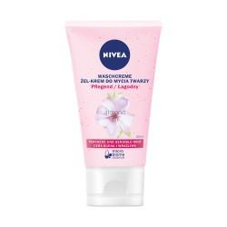 NIVEA Zel-Krem do mycia twarzy  łagodny // cera sucha i wrazliwa // z pielęgnującym olejkiem migdałowym // micro biome balance