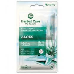 Farmona Herbal Care //  Maseczka nawilżająca Aloes do twarzy // do każdego rodzaju skóry //  2x5ml