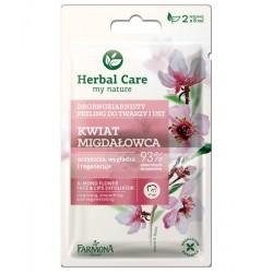 Farmona Herbal Care // Drobnoziarnisty peeling do twarzy i ust Kwiat Migdałowca //  oczyszcza, wygladza, regeneruje//2x5ml