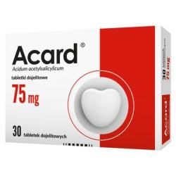 Acard// 75mg tabletki dojelitowe// 30 tabletek dojelitowych