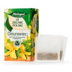 DZIURAWIEC herbatka HERBAPOL // pozytywnie wplywa na nastroj i samopoczucie // 20 torebek