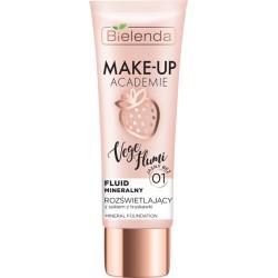 Bielenda Make-Up Academie Vege Flumi  // Fluid mineralny  jasny beż 01 // Zawiera sok  z truskawki