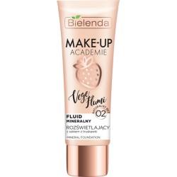 Bielenda Make-Up Academie Vege Flumi // Fluid mineralny naturalny beż 02 // Zawiera sok  z truskawki // 30 g.