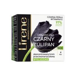Lirene CZARNY TULIPAN Organiczny 50+ // WYGLADZENIE skoncentrowany krem przeciwzmarszczkowy // na noc // 50ml