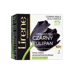 Lirene CZARNY TULIPAN Organiczny 60+ // REGENERACJA krem-eliksir przeciwzmarszczkowy // na noc // 50ml