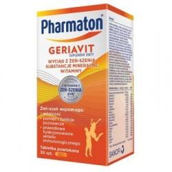 Pharmaton GERIAVIT // wyciag z zen-szenia, substancje mineralne, witaminy // tabletki powlekane 30 szt.