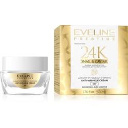 Eveline Prestige 24K SNAIL & CAVIAR // luksusowy intensywnie ujedrniajacy krem przeciwzmarszczkowy na dzien // 50ml