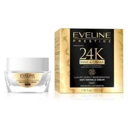 Eveline Prestige 24K SNAIL & CAVIAR // luksusowy gleboko regenerujacy krem na noc