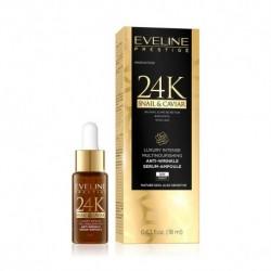 Eveline Prestige 24K SNAIL & CAVIAR // Luksusowe multiodżywcze przeciwzmarszczkowe serum-ampułka // dzien/noc // 18ml.
