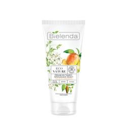 Bielenda ECO NATURE - Śliwka kakadu + Jaśmin + Mango - peeling do twarzy nawilżająco-kojący // do  suchej i odwodnionej skóry