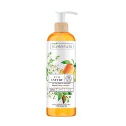 Bielenda ECO NATURE - Śliwka kakadu + Jaśmin + Mango - żel do mycia twarzy nawilżająco-kojący // do suchej i odwodnionej skóry