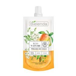 Bielenda ECO NATURE - Śliwka kakadu + Jaśmin + Mango - Peeling do ciała oczyszczająco - nawilżający // do szorstkiej skóry