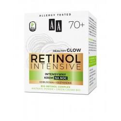 AA Retinol Intensive 70+ INTENSYWNY Krem na NOC // odbudowa + odzywienie // bio-retinol, matrixyl power, green caviar // 50ml