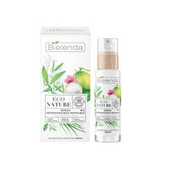 Bielenda ECO NATURE - Woda kokosowa + Zielona Herbata + Trawa Cytrynowa - serum detoksykująco-matujące // cera mieszana i tłusta