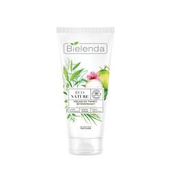 Bielenda  ECO NATURE  Woda kokosowa + Zielona Herbata + Trawa Cytrynowa  peeling do twarzy detoksykujący /cera mieszana i tłusta