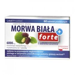 Morwa Biała Plus Forte,// morwa biala + cynamonowiec + chrom + wit. B12// 60 tab.