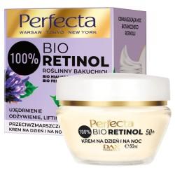 Perfecta 100% BIO RETINOL 50+ // przeciwzmarszczkowy KREM na dzien i na noc // UJEDRNIENIE, ODZYWIENIE, LIFTING // 50ml