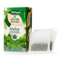 MELISA herbatka ziolowa - HERBAPOL // wspomaga odprezenie organizmu i spokojny sen // 20 torebek