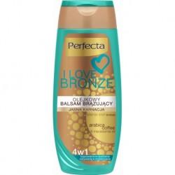 Perfecta I LOVE BRONZE / Olejkowy balsam brazujacy / Jasna karnacja/ 4w1 brazowienie,nawilzenie,odzywienie,modelowanie