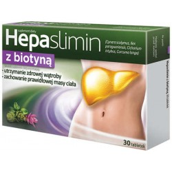 HEPASLIMIN z BIOTYNA // zdrowa watroba, prawidlowa masa ciala // 30 tabletek