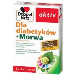 DOPPELHERZ AKTIV DLA DIABETYKOW + MORWA //Kompletny zestaw 15 witamin i skladnikow mineralnych // 40 tab.