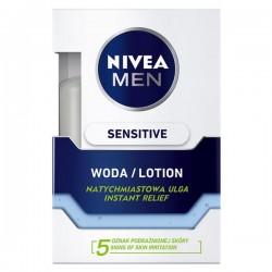 Nivea Men Sensitive WODA PO GOLENIU // natychmiastowa ulga  // 5 oznak podraznionej skory // 0% alcohol // 100ml