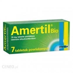 AMERTIL Bio 10mg - lek przeciwalergiczny // tabletki powlekane // 7 sztuk