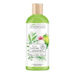 Bielenda ECO NATURE Woda kokosowa + Zielona Herbata + Trawa Cytrynowa woda micelarna detoks-mat /cera mieszana i tłusta