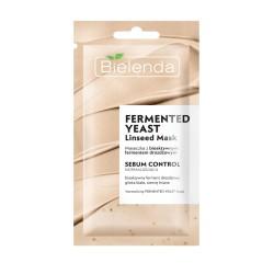 Bielenda FERMENTED YEAST sebum control // normalizujaca maseczka z fermentem drozdzowym, glinka biala i siemieniem lnianym