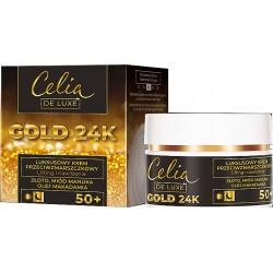 Celia De Luxe GOLD 24k 50+ // Luksusowy Krem Przeciwzmarszczkowy - lifting i nawilzenie // dzien i noc // 50ml