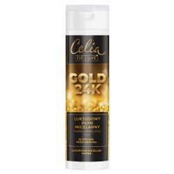 Celia De Luxe GOLD 24K // Luksusowy Plyn Micelarny // zloto 24K, miod manuka // kazdy rodzaj cery // 200ml