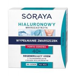 SORAYA Hialuronowy Mikrozastrzyk 40+ WYPELNIANIE ZMARSZCZEK - Forte Odnowa // Regenerujacy krem na dzien i na noc // 50 ml.
