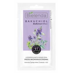 Bielenda BAKUCHIOL // Ujedrniajaca maseczka przeciwzmarszczkowa // bakuchiol, ginko biloba, hydrolat z rozy