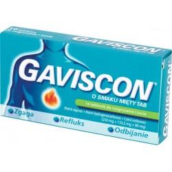 GAVISCON o smaku miety TAB // zgaga, refluks, odbijanie // 16 tabletek do rozgryzania i zucia