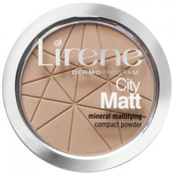 Lirene Dermo Program // CITY MATT mineral mattifying compact powder // 03 BEZOWY