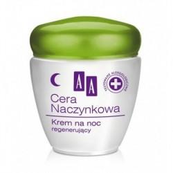 AA CERA NACZYNKOWA  Krem regenerujacy na noc // Redukuje zaczerwienienia skory // 0% alergenow, parabenow, barwnikow