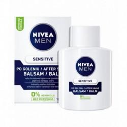NIVEA Men /SENSITIVE Balsam po goleniu /Natychmiastowe lagodzenie podraznien,poprawa kondycji skory / 0% alkoholu,bez pieczenia